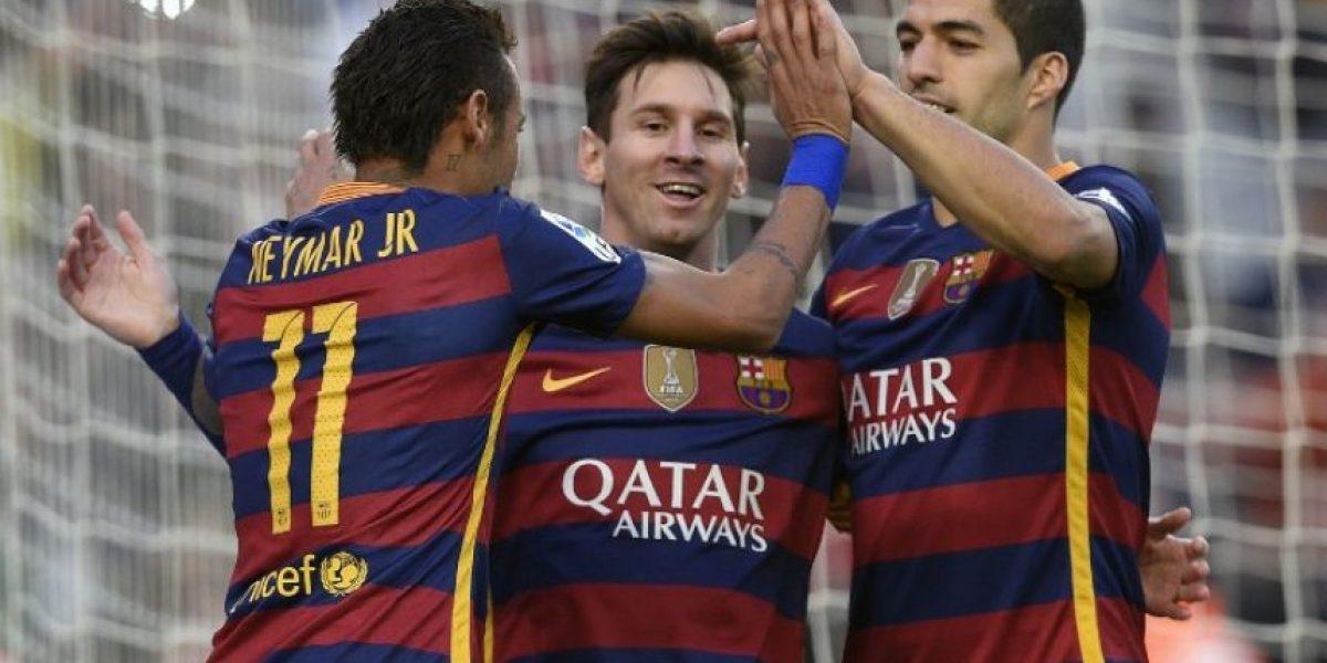 El Barça se sitúa como líder provisional con triplete de Messi