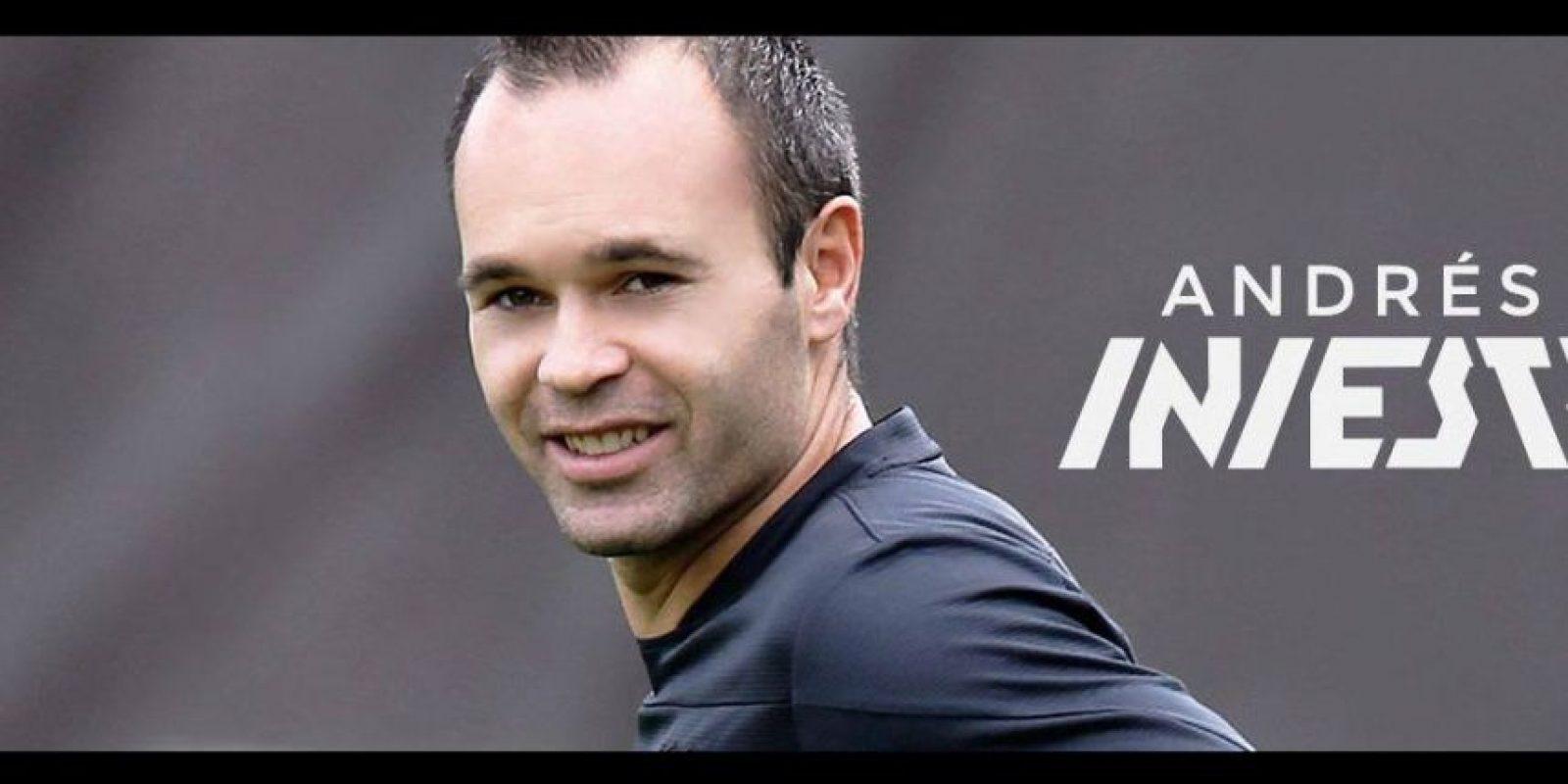 6. Andrés Iniesta Foto:Vía facebook.com/AndresIniesta