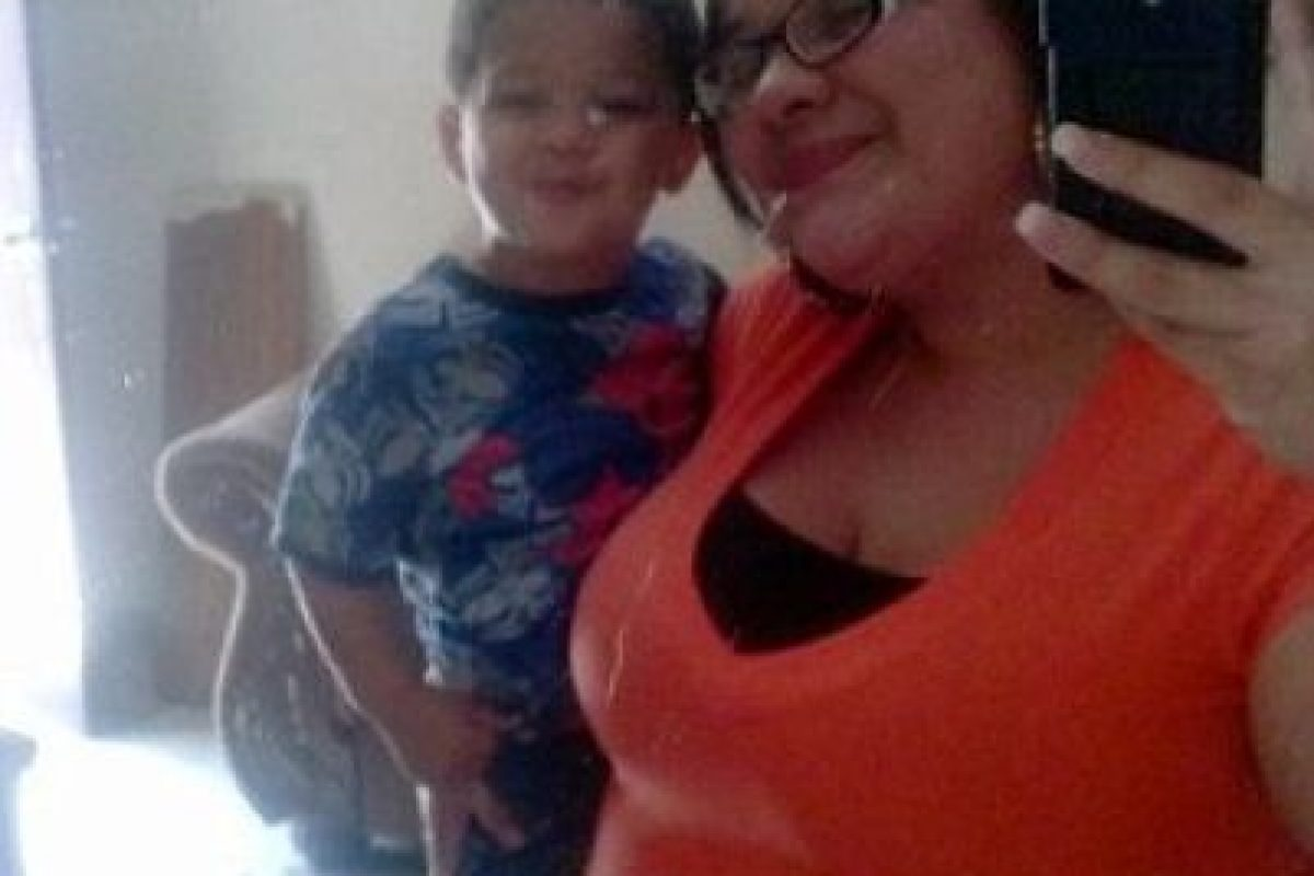 Elizabeth Peréz y su hijo Nathaniel. Foto:Vía Facebook