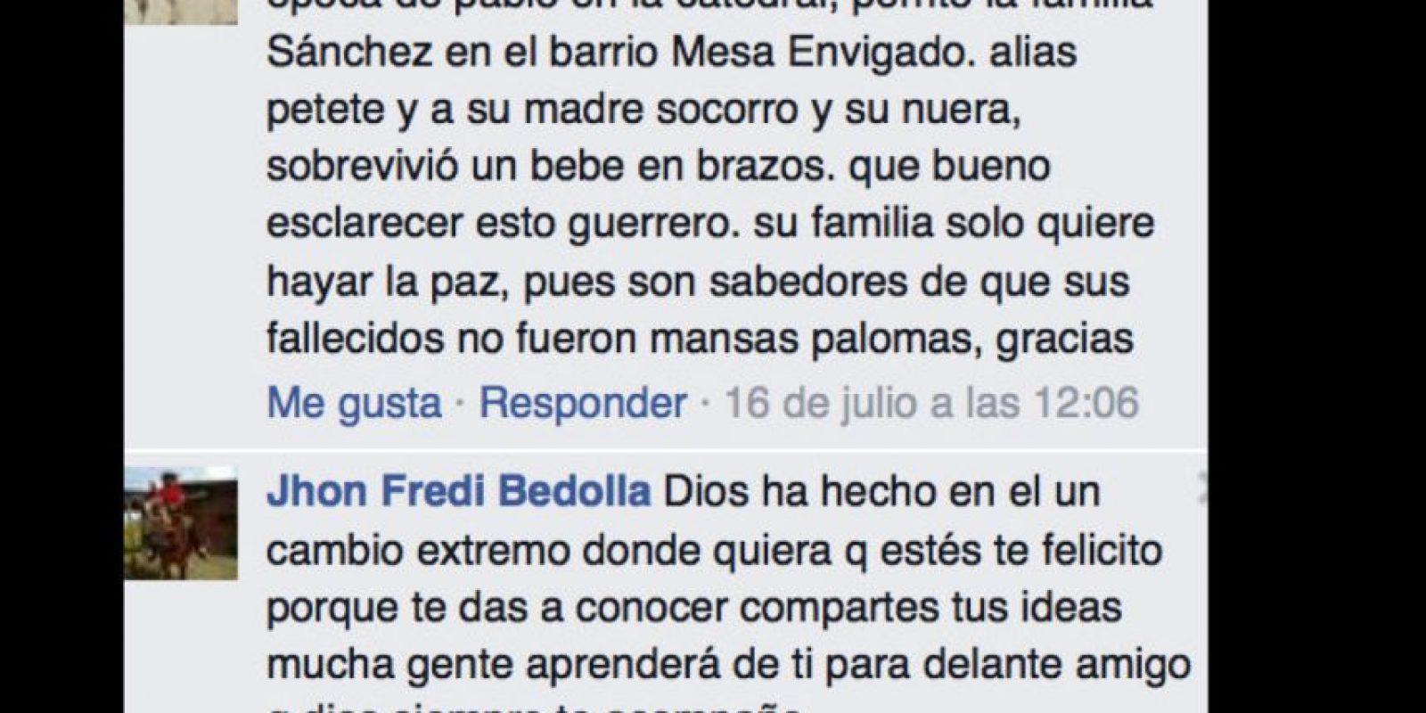 """Llegó a tener miles de seguidores en su página oficial de Facebook, donde contestaba a admiradores. Foto:vía Facebook/John Jairo Velásquez Vásquez """"Popeye"""""""