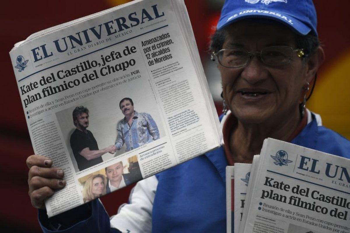 """El actor estadounidense Sean Penn se reunió con Joaquín """"Chapo"""" Guzmán mientras este se encontraba prófugo. Foto:AFP"""