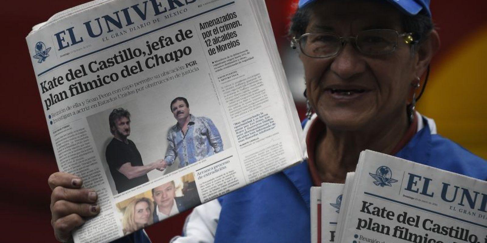 """1. Entrevista con el """"Chapo"""" Guzmán Foto:AFP"""