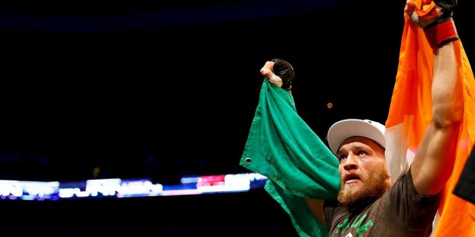 En su última pelea, McGregor derrotó a José Aldo con impresionante nocaut en sólo 13 segundos. Foto:Getty Images