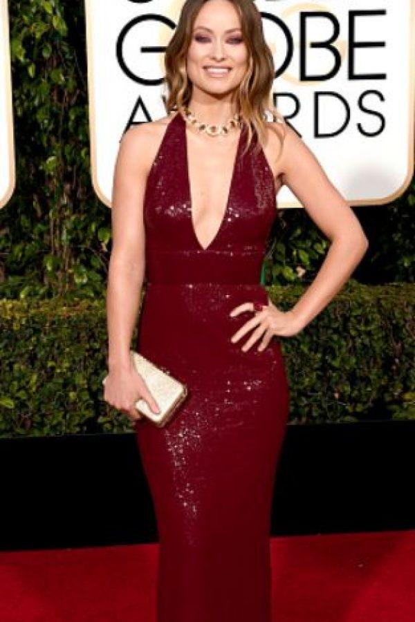 Olivia Wilde, impresionante en el mismo color. Así se usan las lentejuelas. Foto:vía Getty Images