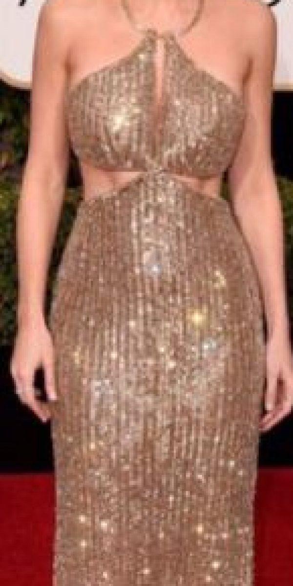 Brie Larsson, maravillosa en dorado. Clásica, como en los años 30. Foto:vía Getty Images