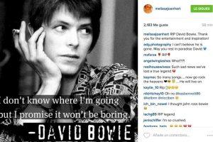 """Melissa Joan Hart: """"Descansa en Paz David Bowie. Gracias por tu entretenimiento e inspiración"""" Foto:Instagram.com"""