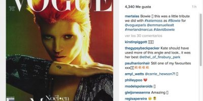 """Mertalas, fotógrafo de celebridades: """"Este es un pequeño tributo que le hicimos con Kate Moss para Vogue París"""" Foto:Instagram.com"""
