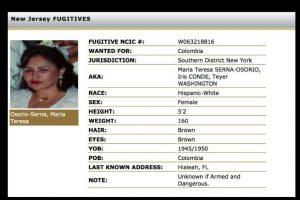 Sin embargo ahora ella encabeza la lista de los más buscados. Foto:dea.gov