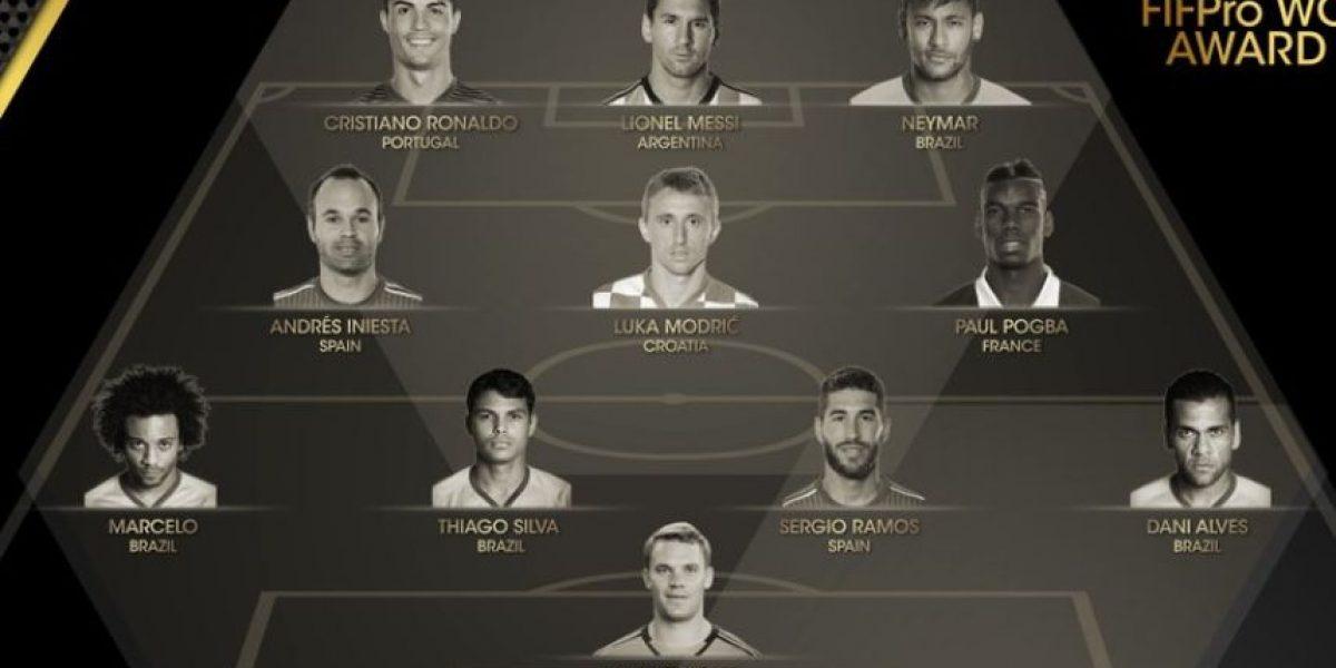 Jugadores que integran el FIFPro: Equipo del Año FIFA 2015