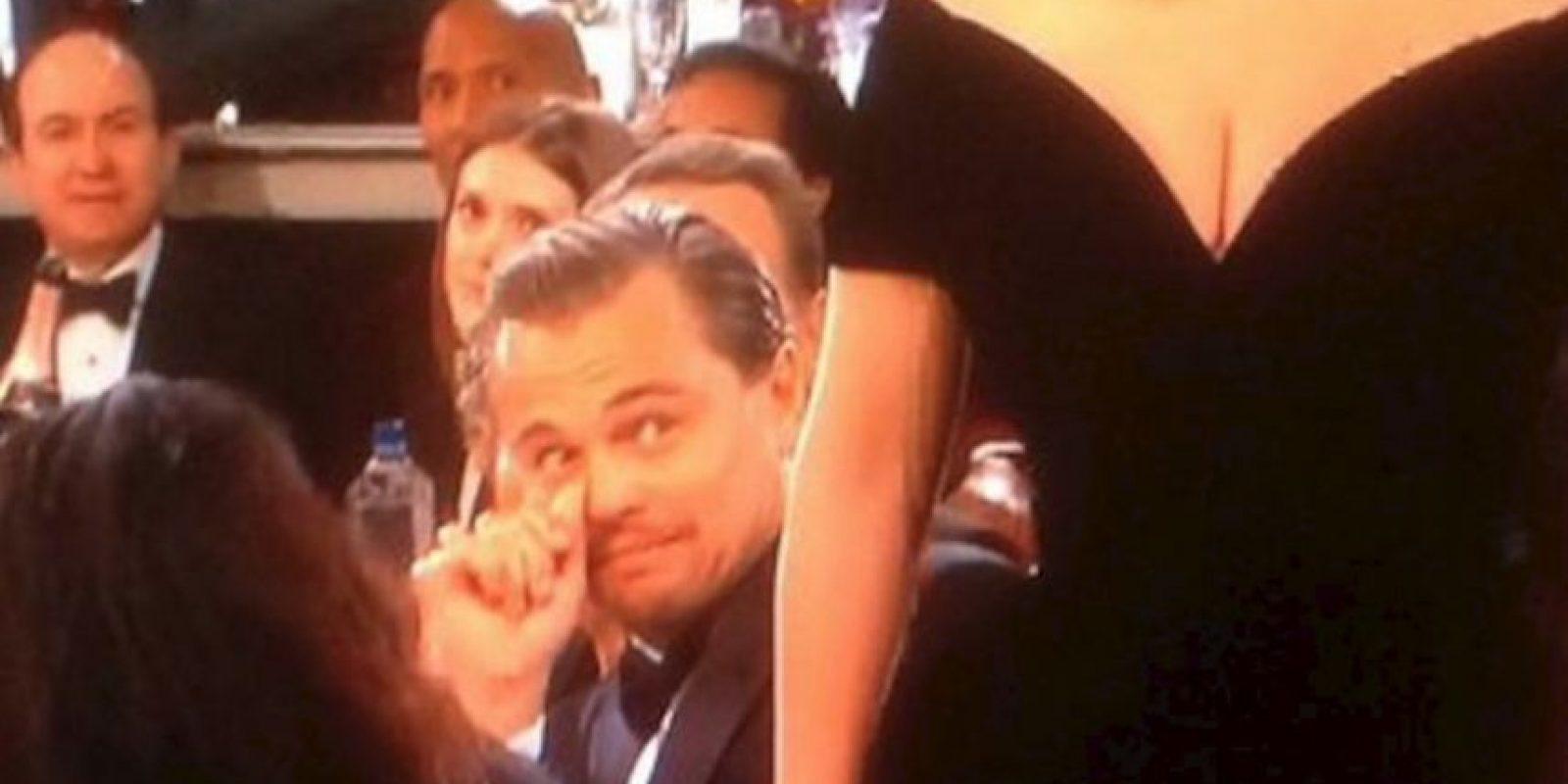 ¿Se estaba burlando DiCaprio del triunfo de Lady Gaga? Foto:Vía Twitter/NBC