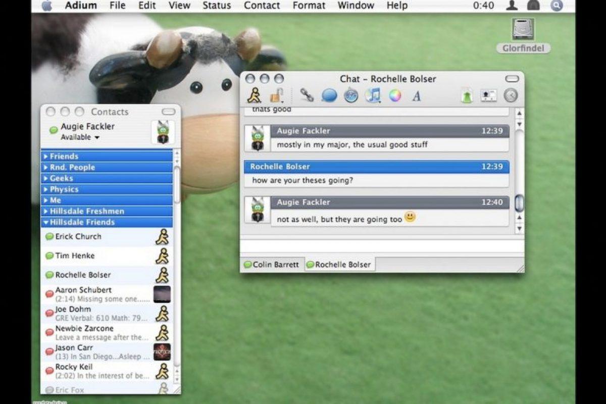 Soporta multiples protocolos de mensajería instantánea y utiliza el sistema de cifrado OTR. Foto:vía Tumblr.com