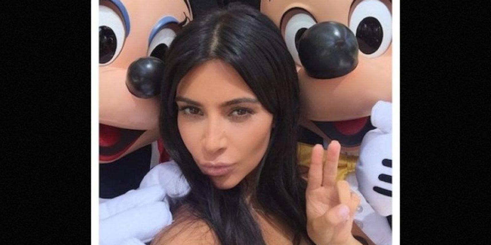 Mickey y Minnie Mouse Foto:Instagram/kimkardashian