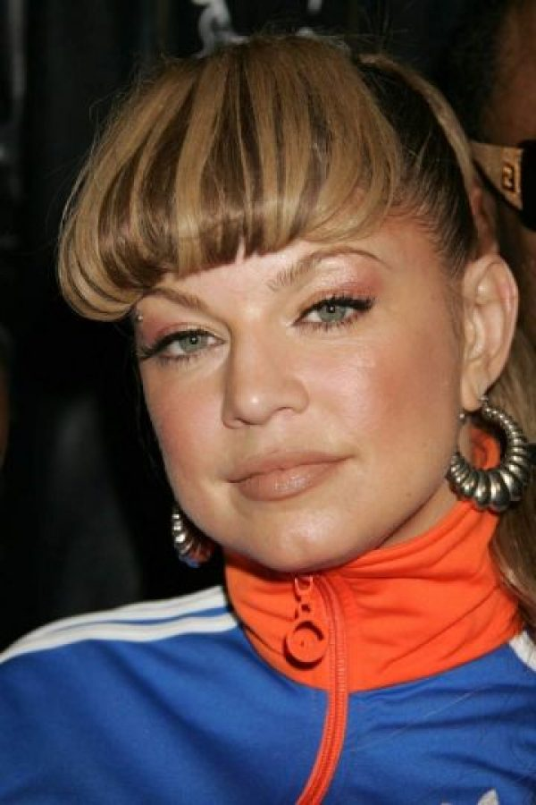 "El capul ""Willy Wonka"" de Fergie. Foto: vía Getty Images"