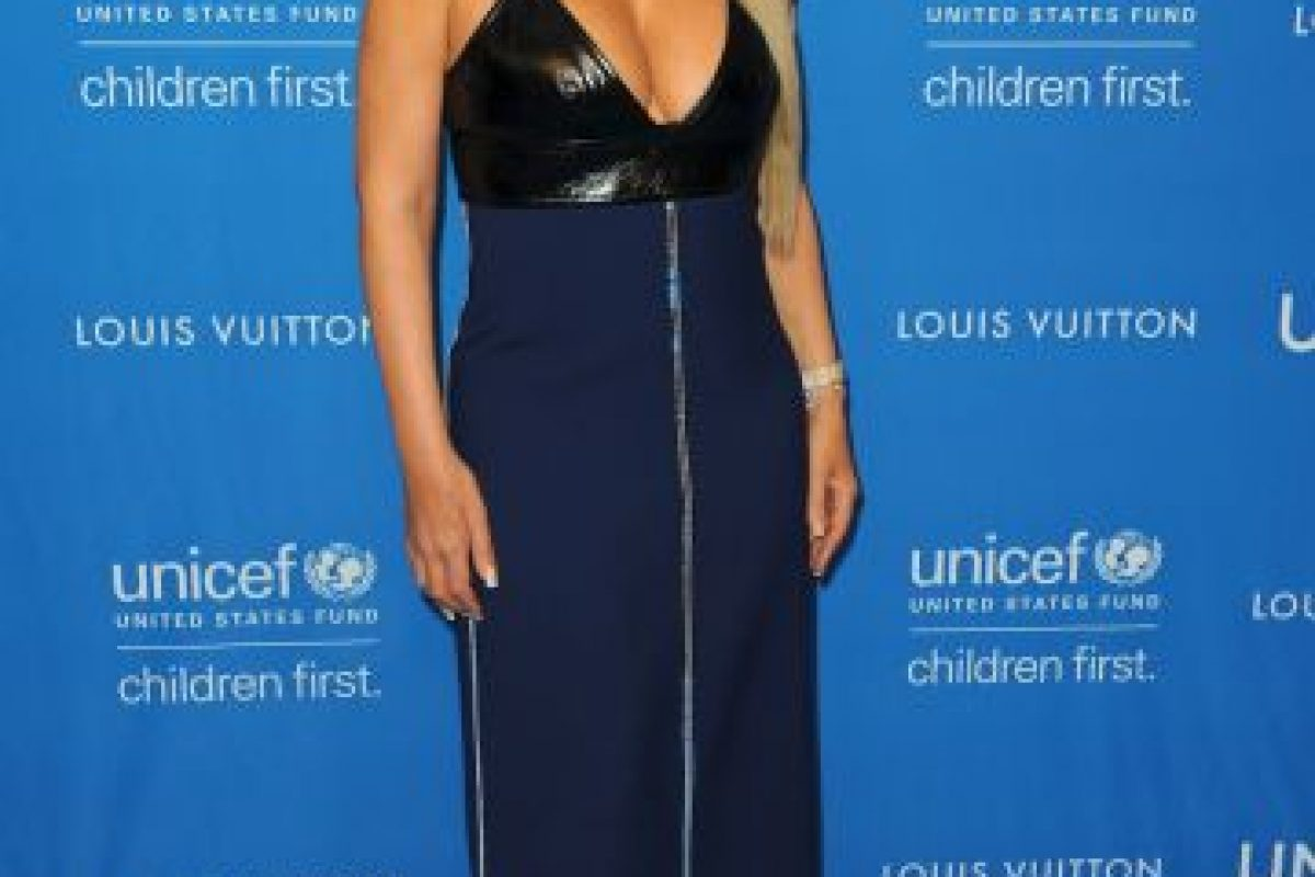 Mariah Carey ayer en el evento de UNICEF Foto: Getty Images