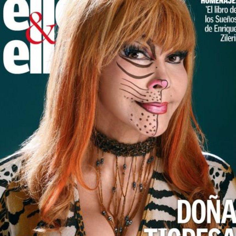 """En """"El Sueño de la Tigresa"""" apareció desnuda. Foto:Tigresa del Oriente/Facebook"""