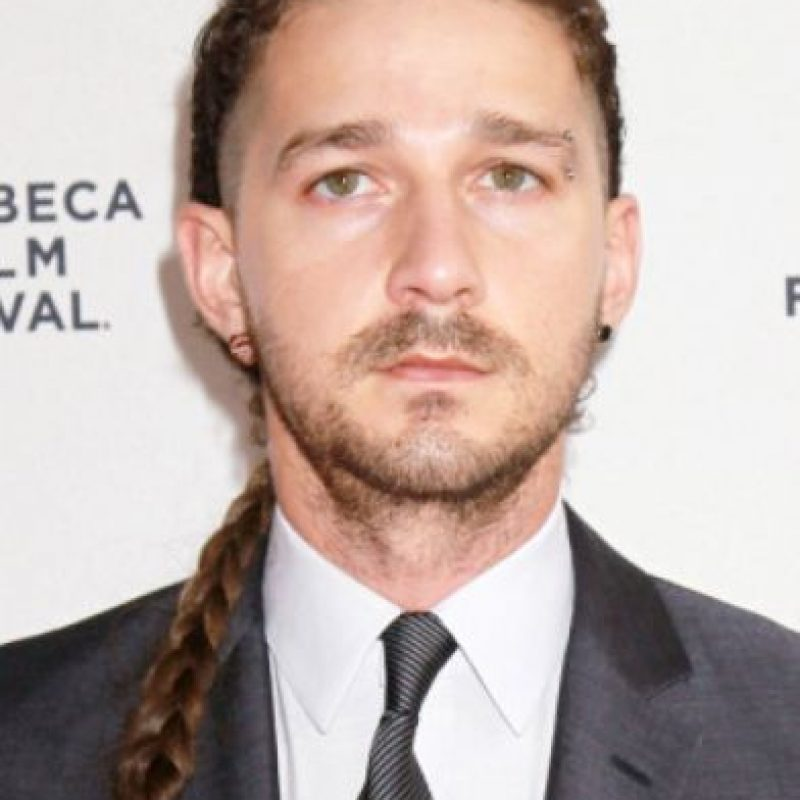 La trenza de Shia Labeouf. Foto: vía Getty Images