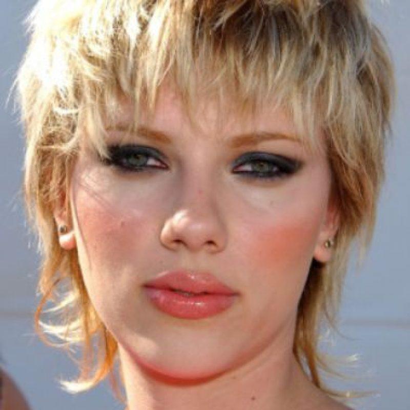 Scarlett Johansson con mullet. No. Foto:vía Getty Images