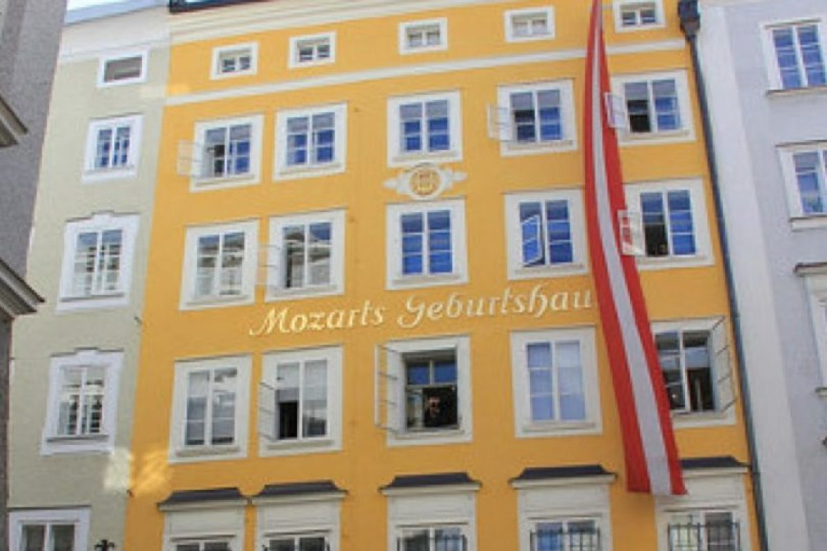 Casa de Mozart. Entre los años 1784 y 1787 el compositor vivió junto con su familia en este lugar. Foto:Vía viena.org.es