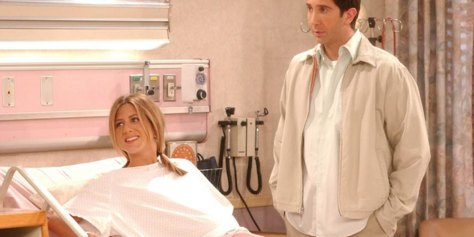 Jennifer Aniston (Rachel) y David Schwimmer (Ross) Foto: Getty Images