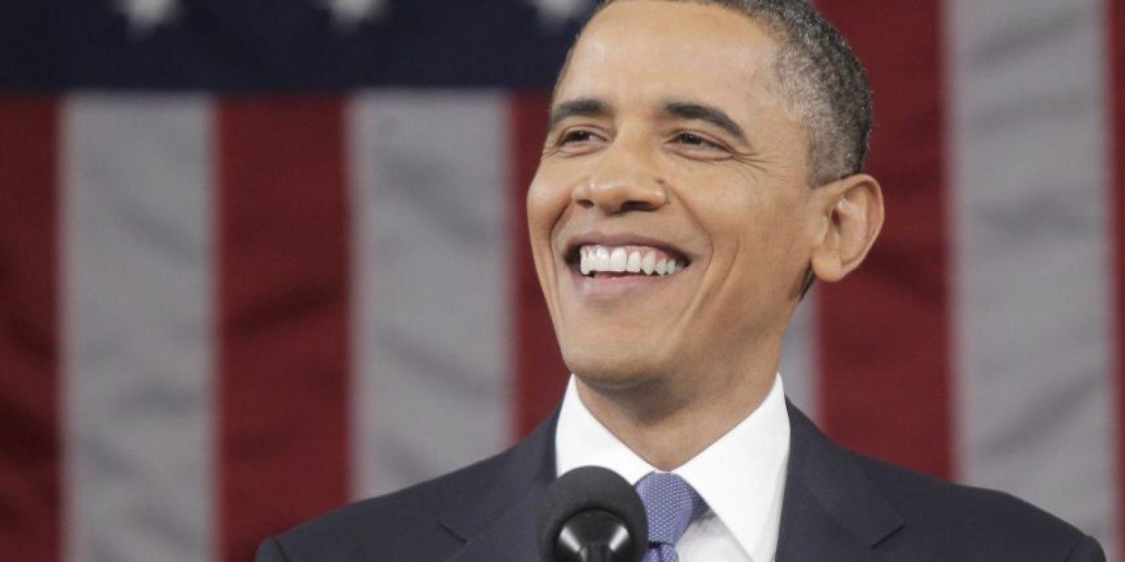 Para 2011, Obama mostraba ya indicios de pelo cano. Foto:Getty Images