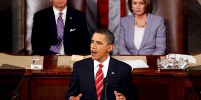 En 2010 el mandatario aún lucía un cabello negro. Foto:Getty Images