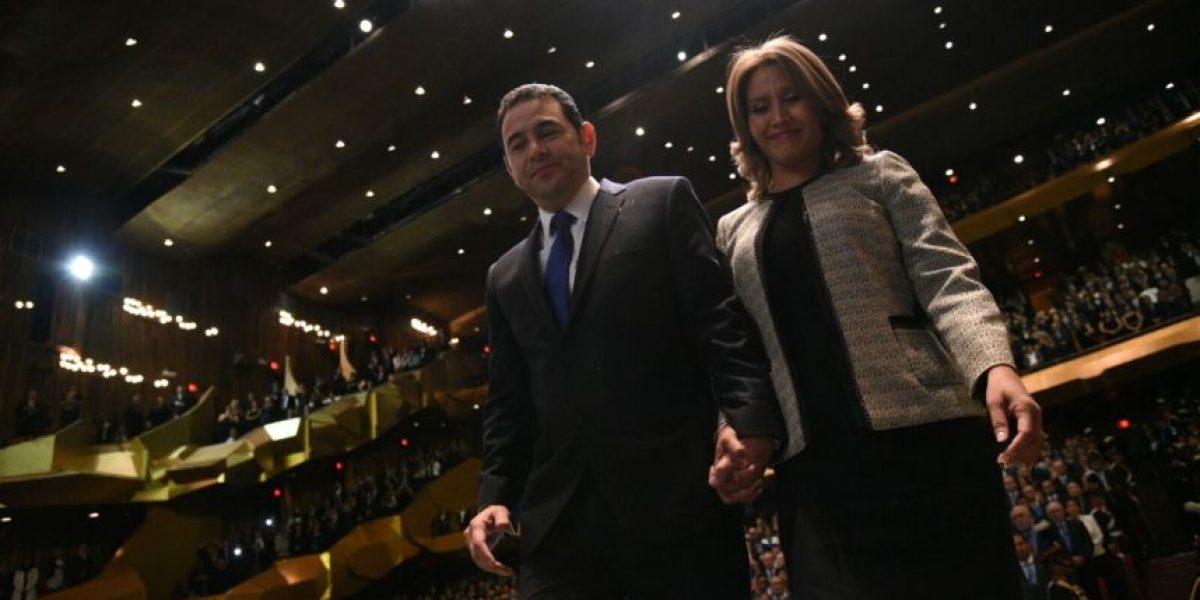 Esposa de Jimmy Morales revela uno de los sueños del nuevo presidente de Guatemala
