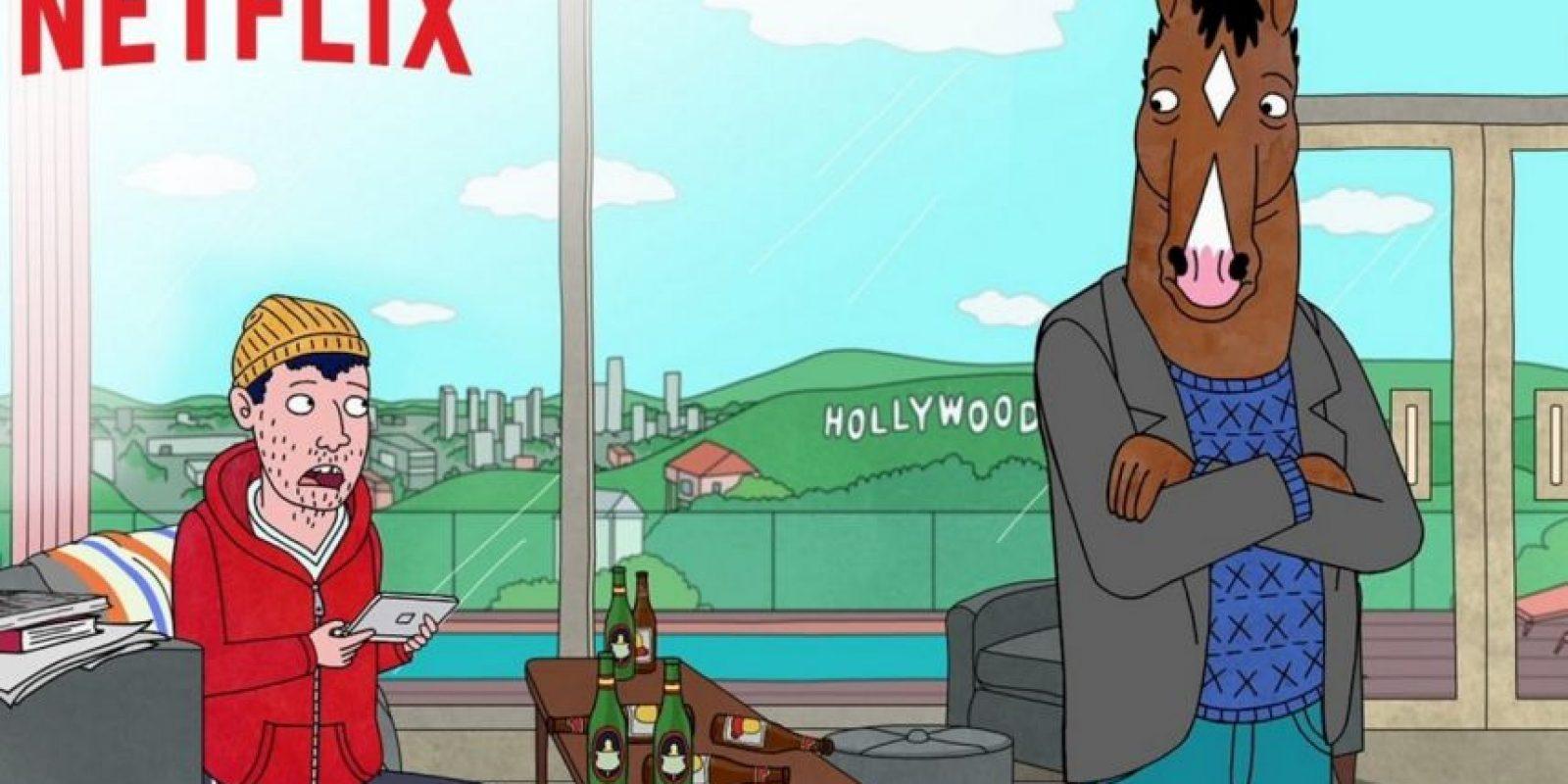 """Esta serie animada se centra en la vida de """"BoJack Horseman"""", una exestrella del sitcom de 1990 cuya carrera está terminada, pero que planea su regreso como celebridad mientras lidia con las exigencias de su agente y su expareja. Foto:Netflix"""