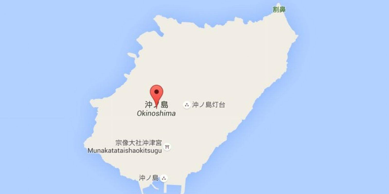 La remota isla está ubicada entre Japón y Corea del Sur. Foto:Google Maps