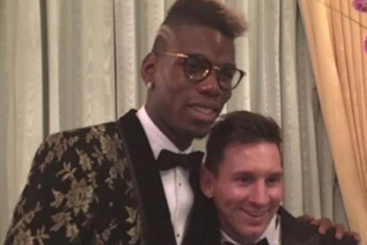 Pogba confesó a Messi que desea jugar en el Barcelona Foto:Tiwtter
