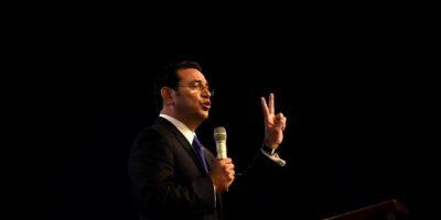 El emotivo pero duro mensaje de Jimmy Morales en Tedeum evangélico