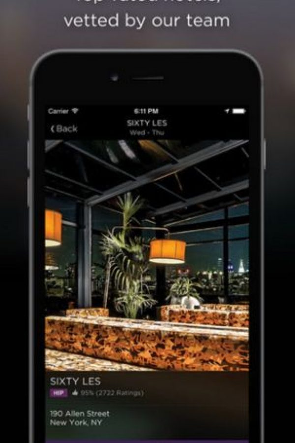 Disponible para iOS, Android y Windows Phone. Foto: Hotel Tonight Inc