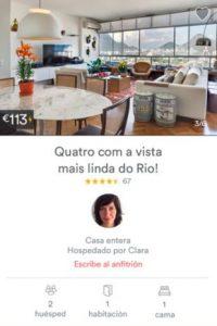 """Si no quieren quedarse en un hotel, en esta app pueden solicitar alojamientos en todo tipo de inmuebles. Los sitios para el mismo día se distinguen debido a que tienen un aviso de """"reserva inmediata"""", con lo cual sus anfitriones los atenderán enseguida. Foto:Airbnb, Inc."""