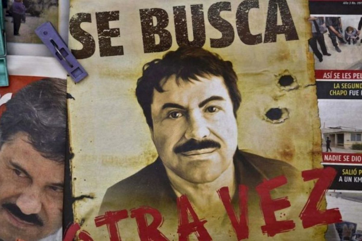 """El 8 de enero de 2015, Enrique Peña Nieto, presidente de México, anuncia la recaptura de Joaquín """"El Chapo"""" Guzmán. Foto:AFP"""