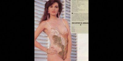Candidata a Miss Atlántico en 1990, representaba a Colombia Foto:Colarte.com