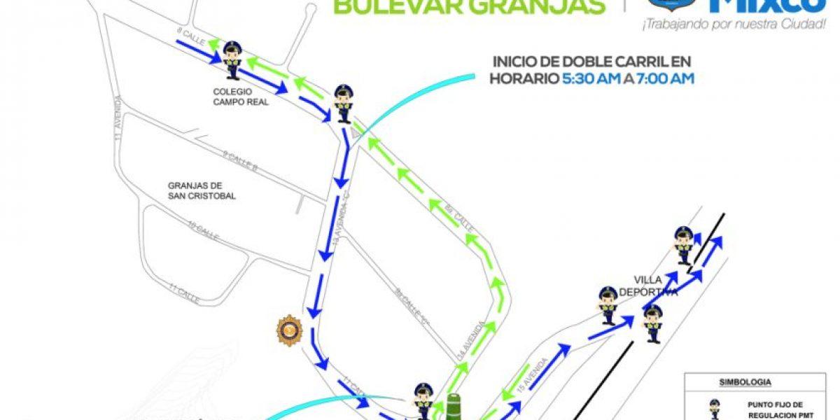 Habilitarán otro carril reversible en ciudad San Cristóbal
