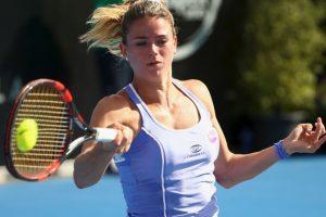 Así lució en su partido ante Serena Williams Foto:Getty Images