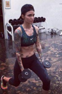 Ruby Rose y su rutina de pesas Foto:Vía Instagram/@RubyRose