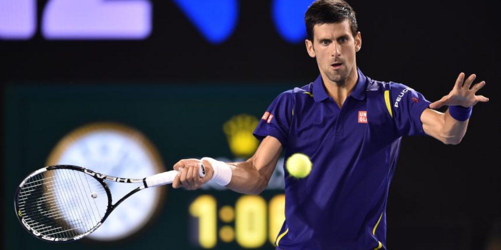 Djokovic en un partido del Australia Open. Foto:AFP