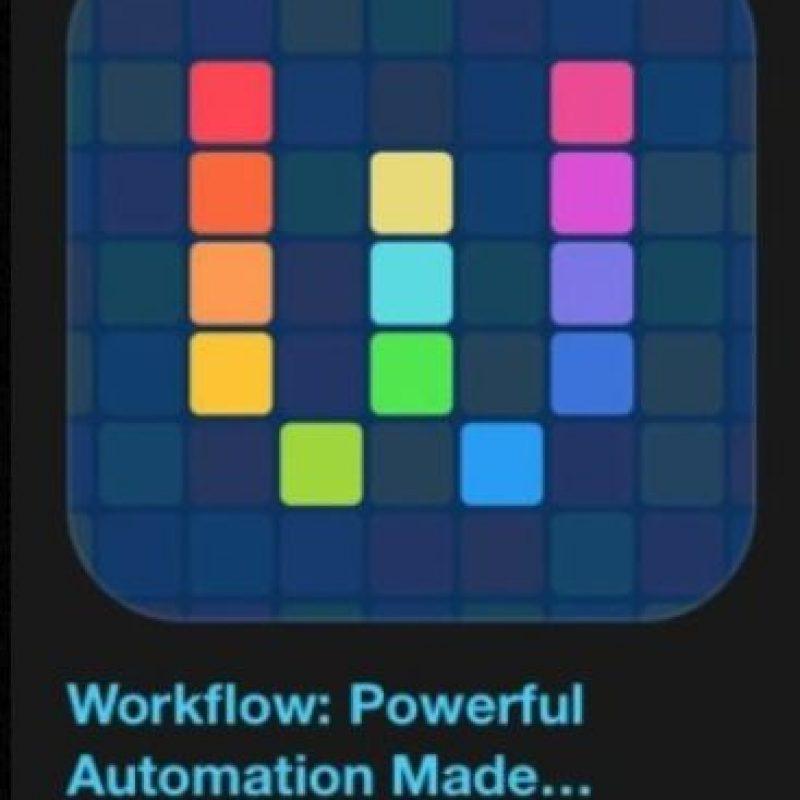 """6- """"Workflow: Powerful Automation Made Simple"""". Cuesta tres dólares y es su herramienta de automatización de personal, lo que le permite arrastrar y soltar cualquier combinación de acciones para crear flujos de trabajo de gran alcance. Foto:Apple v"""
