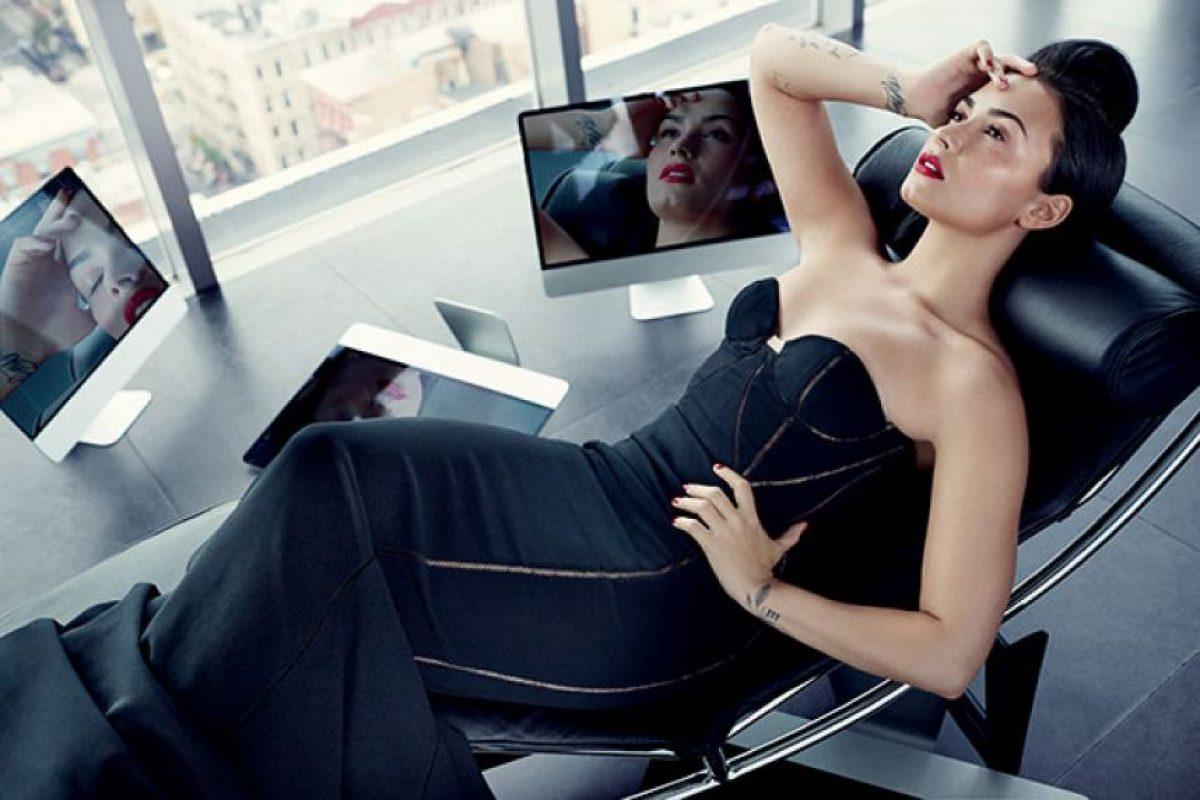 Lovato frente al lente de Allure Foto:allure.com