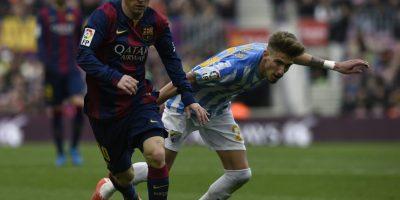 Lionel Messi conduce el balón.