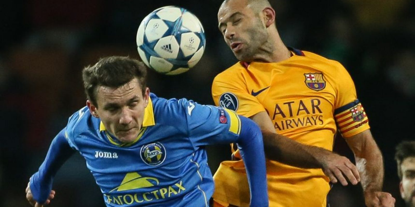 Mascherano un jugador de mucha garra y entrega. Foto:AFP