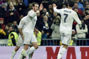 Bale celebra un gol con Cristiano Ronaldo. Foto:AFP