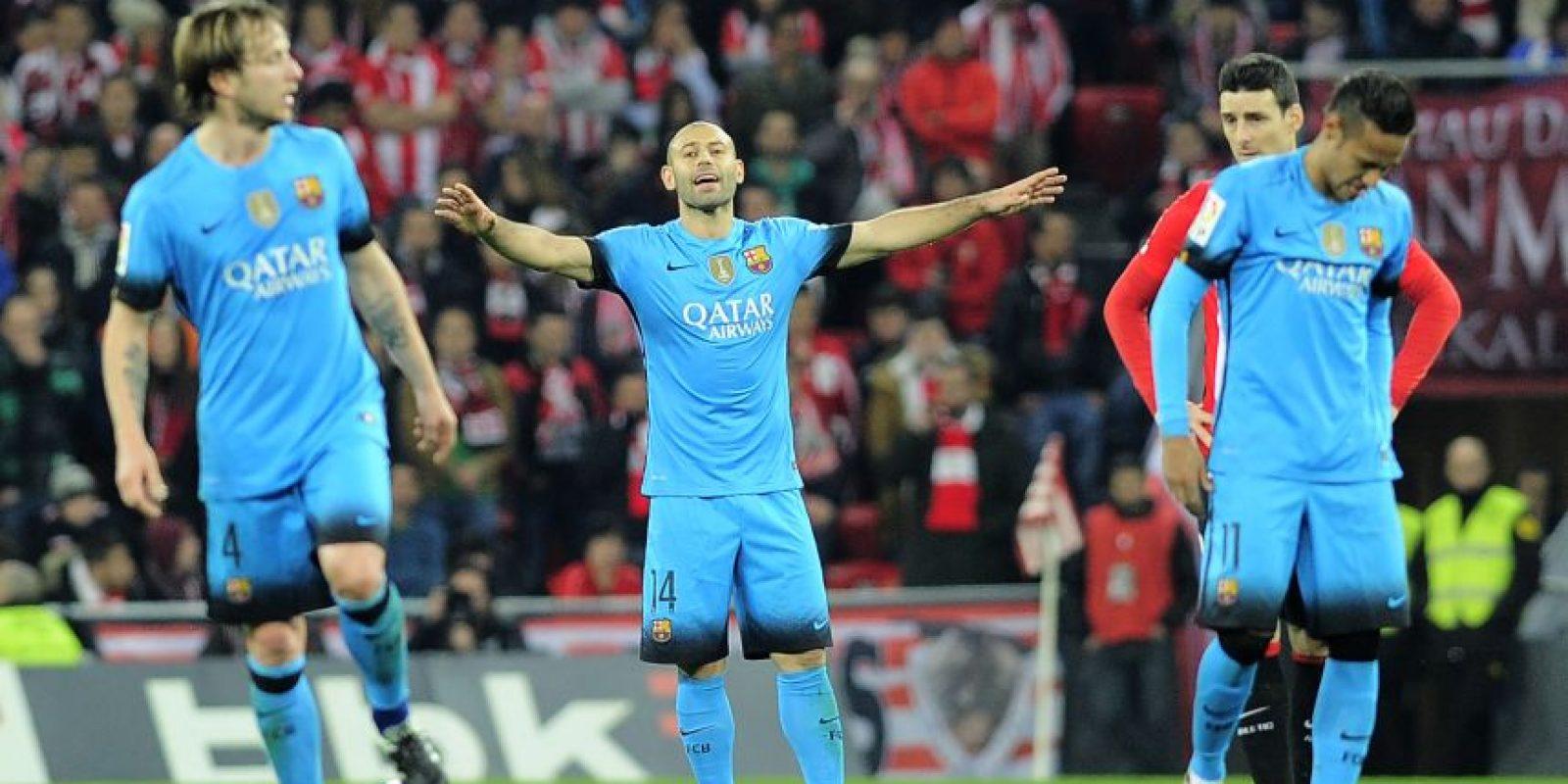 Masche en el partido de Copa del Rey ante el Athletic. Foto:AFP