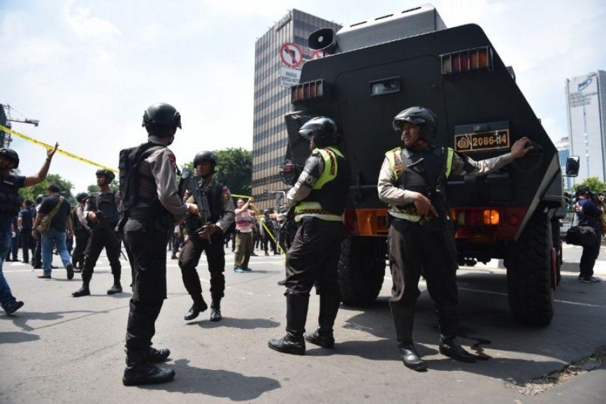 El 14 de enero, siete personas murieron en Yakarta, Indonesia. Foto:AFP