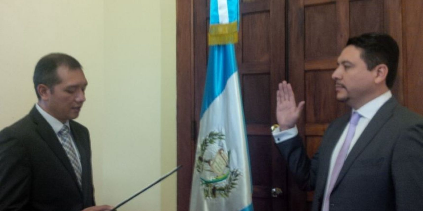 Oscar Miguel Dávila Mejicanos, quien asume como el viceministro antinarcótico Foto:Mingob