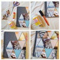 Haz un collage de rombos con tus mejores fotografías Foto:Pinterest.com