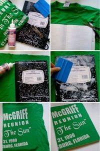Recicla. Forra tus cuadernos con una playera vieja Foto:Pinterest.com