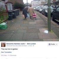 En Londres se volvió viral esta fotografía de dos ancianos tomados de la mano Foto:Facebook