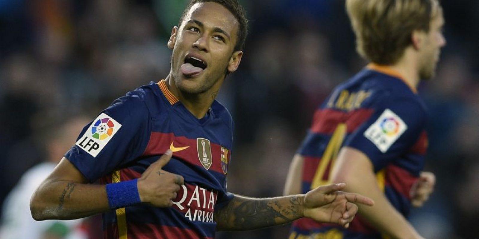 Neymar es duda para jugar ante el Málaga Foto:AFP